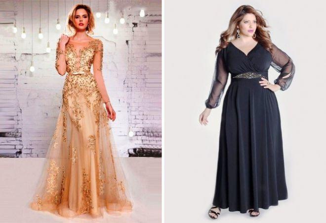 платье с длинным рукавом30