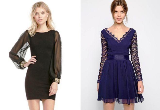 платье с длинным рукавом33