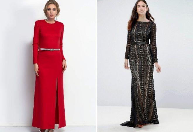 платье с длинным рукавом5