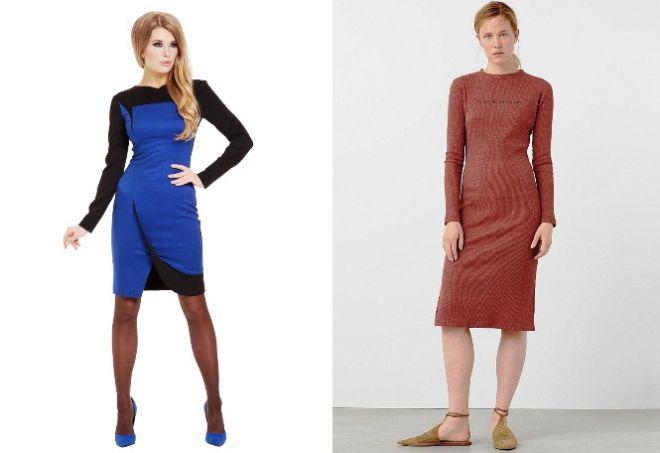 платье с длинным рукавом9