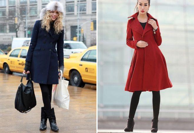 с чем носить классическое пальто 1