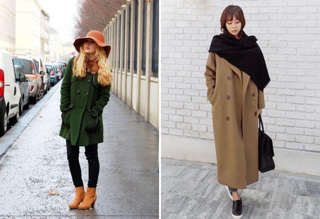 с чем носить классическое пальто 13