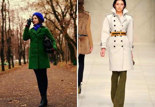с чем носить классическое пальто 14