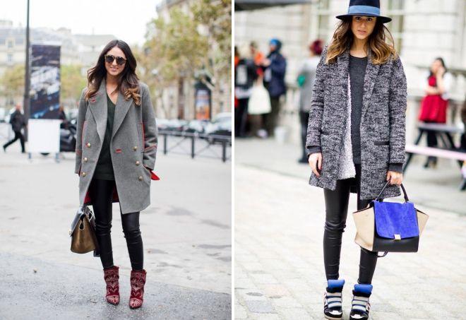 с чем носить классическое пальто 22