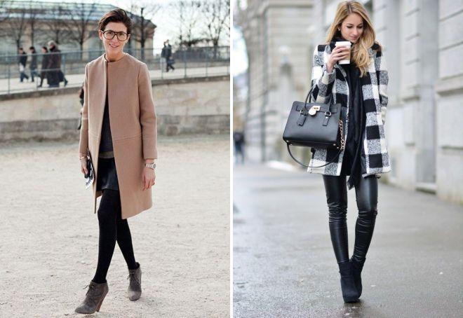 с чем носить классическое пальто 23