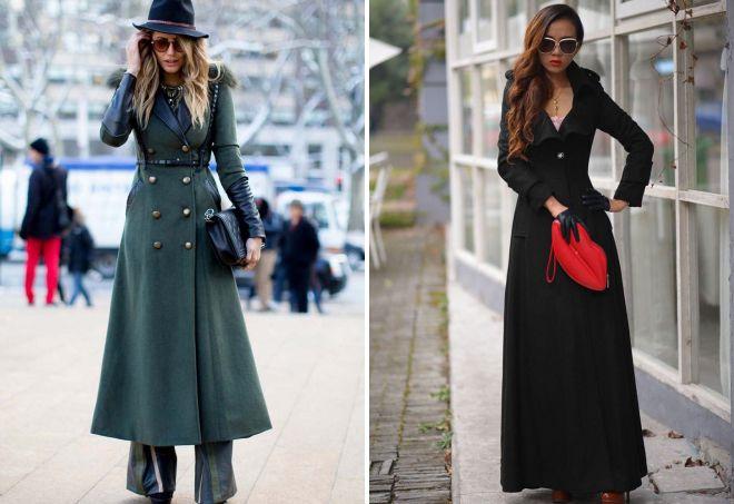 с чем носить классическое пальто 24