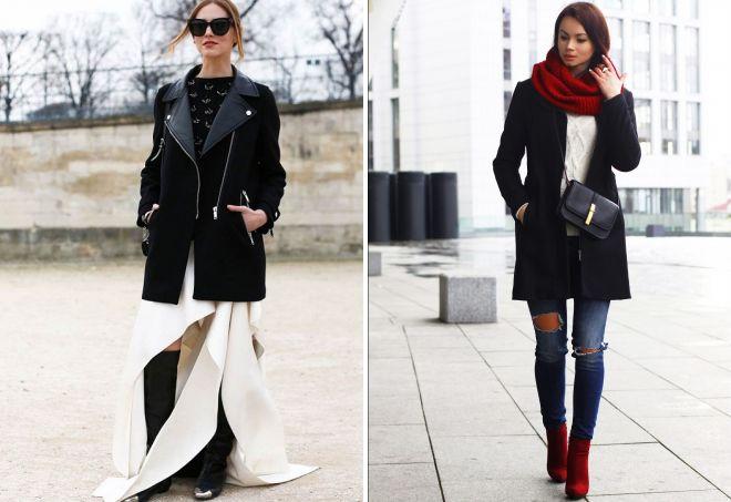 с чем носить классическое пальто 26