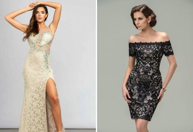 вечерние платья из кружева
