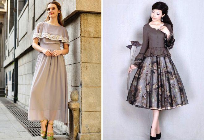 ретро платья с пышной юбкой