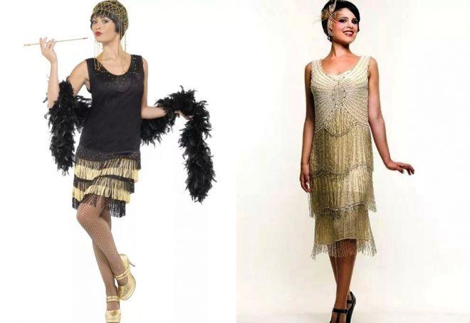 ретро платье с бахромой