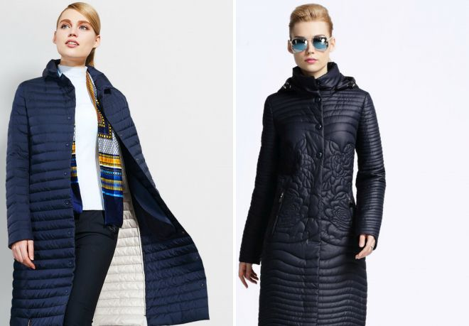 стеганое пальто на весну 2017