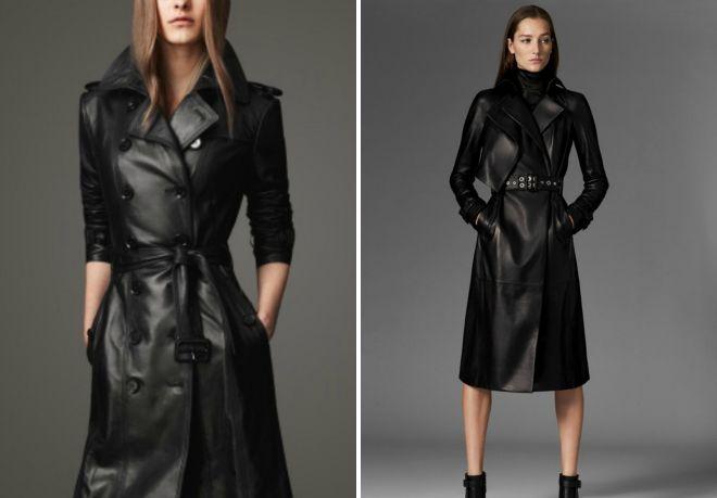 кожаное пальто 2017