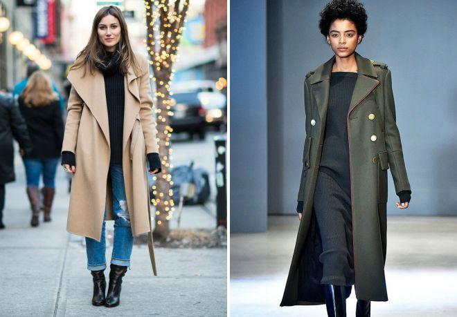 длинное весеннее пальто 2017