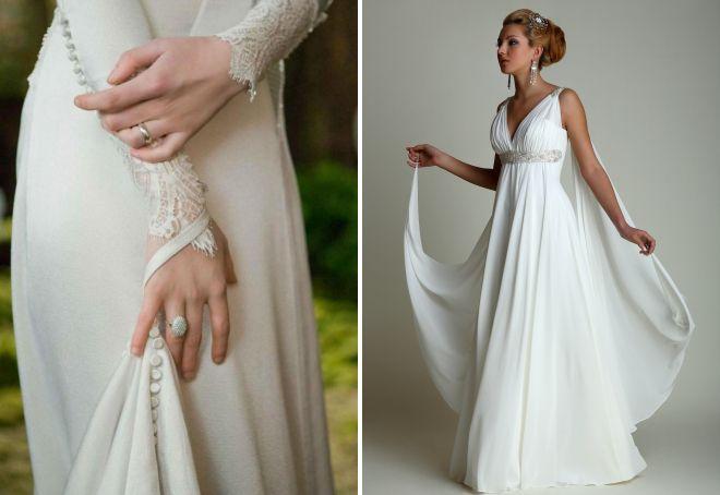 длинные платья со шлейфом