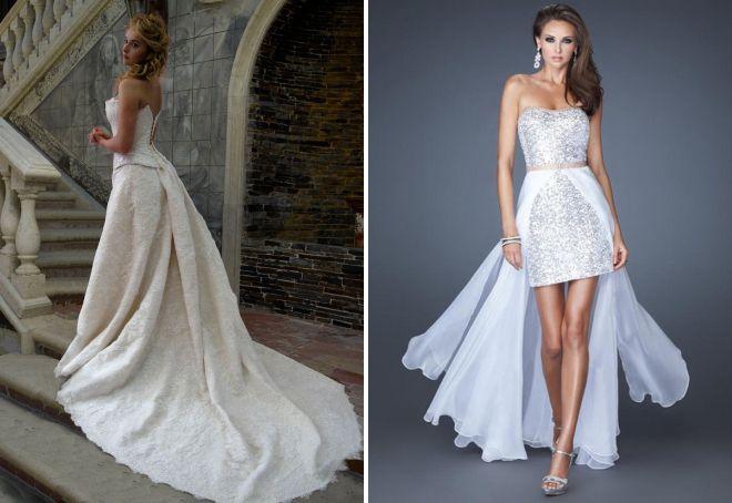 красивые платья со шлейфом