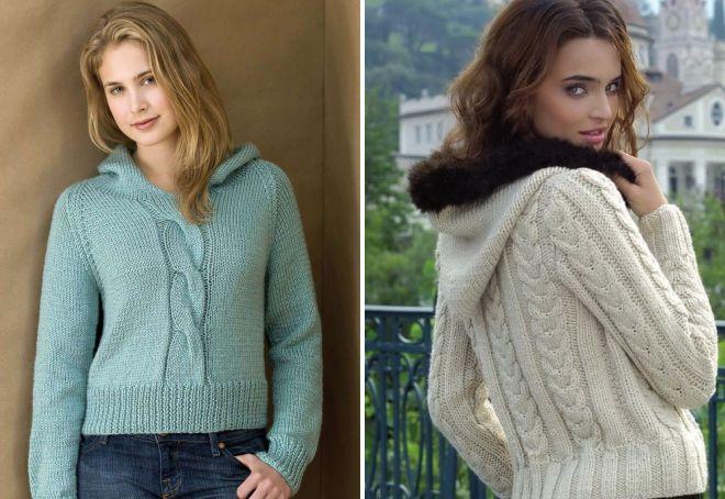 вязаный свободный свитер