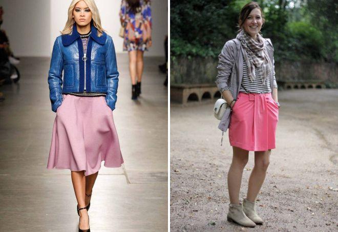 розовый цвет юбки