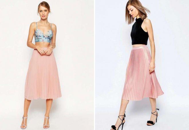 красивые розовые юбки