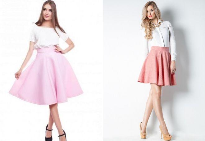 розовая юбка солнце