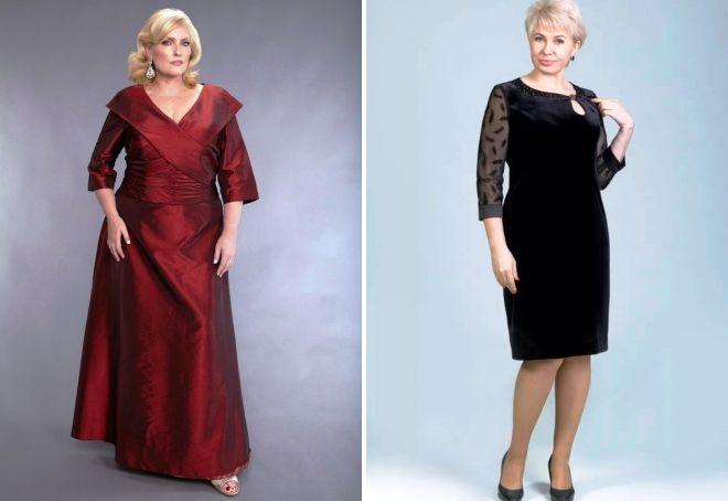 вечерние платья для полных женщин 50 лет