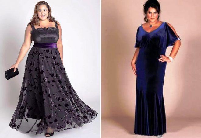 длинные вечерние платья для полных девушек