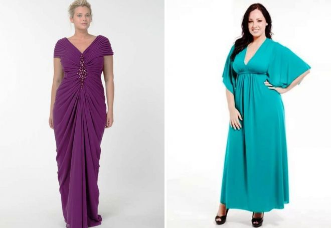 вечерние платья для полных в греческом стиле