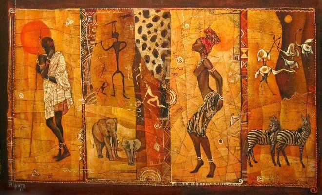 африканские картины в этно стиле