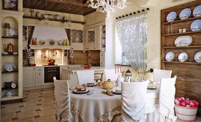 Кухни в русском стиле