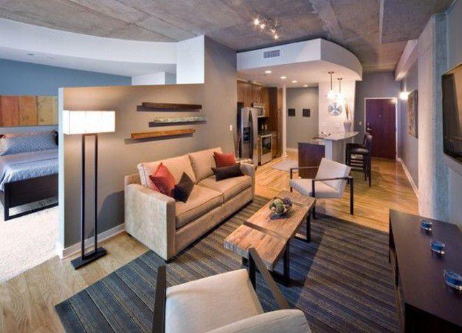 интерьер однокомнатной квартиры 23