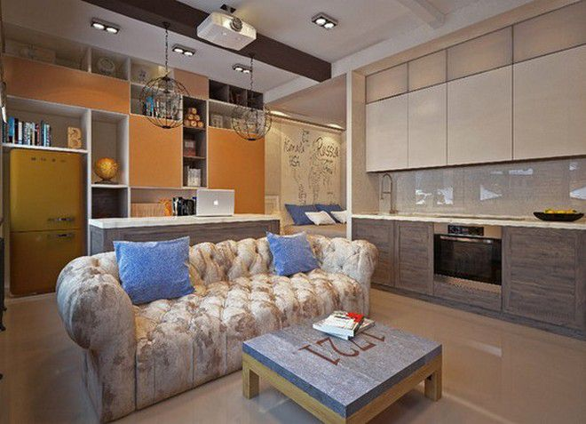 интерьер однокомнатной квартиры 24