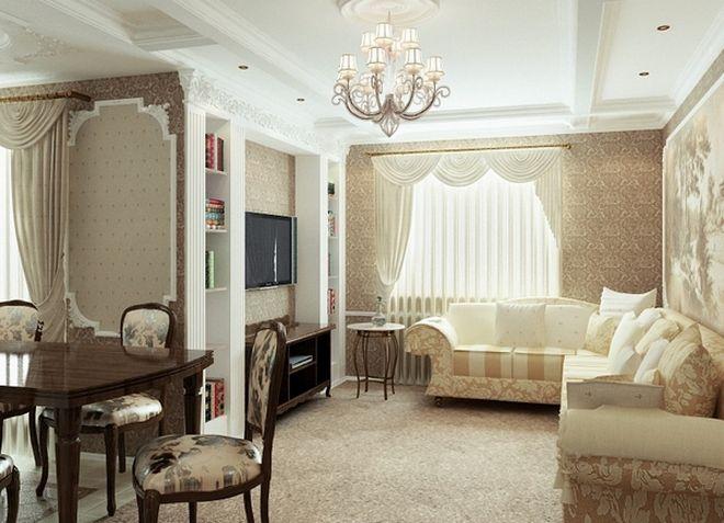 интерьер однокомнатной квартиры 34