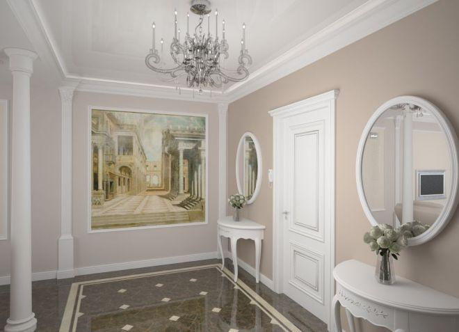 Интерьер прихожей в классическом стиле