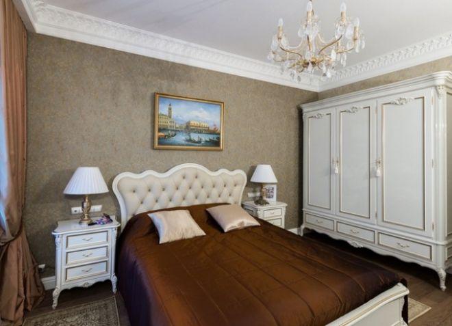 интерьер спальни в современном классическом стиле