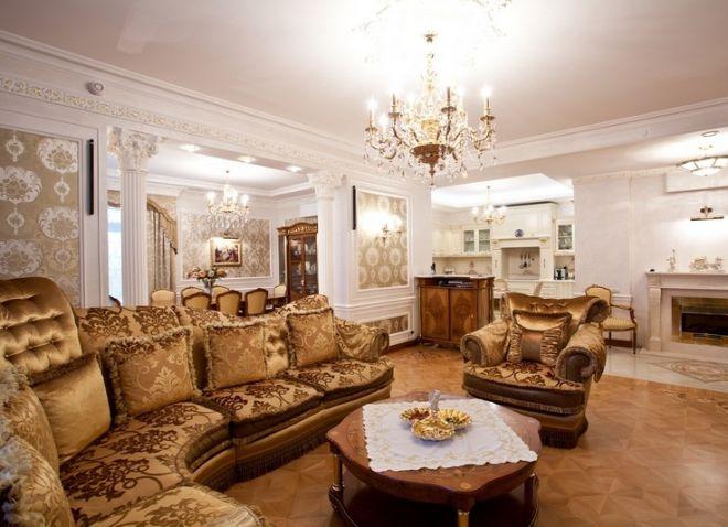 Интерьеры гостиной в классическом стиле мебель