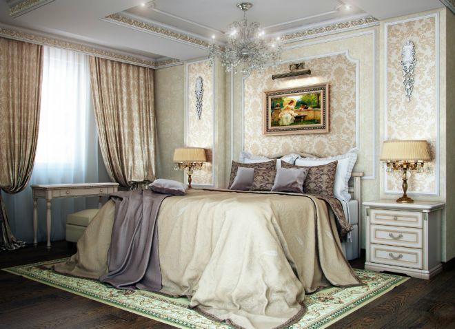 классический французский стиль в интерьере спальни