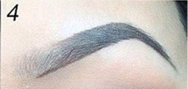 как правильно красить брови карандашом пошагово 4