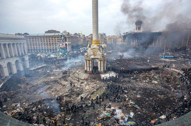 жестокий государственный переворот в Украине