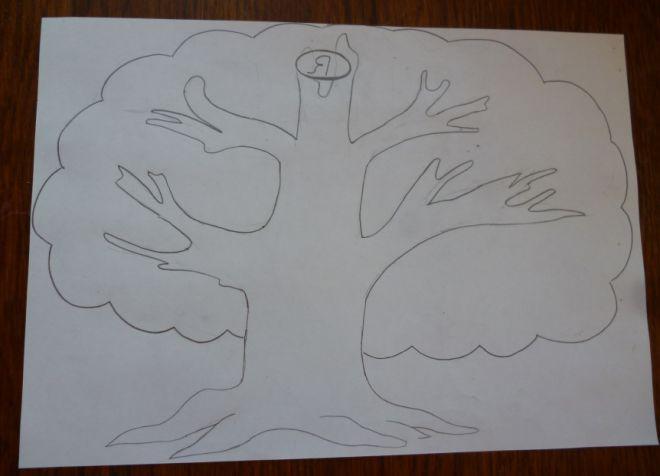 Как нарисовать семейное дерево в школу3