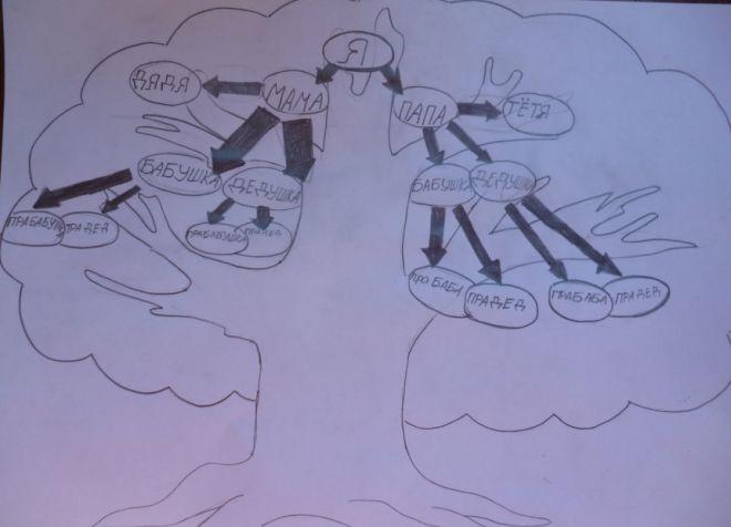 Как нарисовать семейное дерево в школу8
