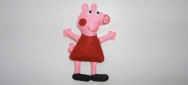 Свинка Пеппа из фетра1