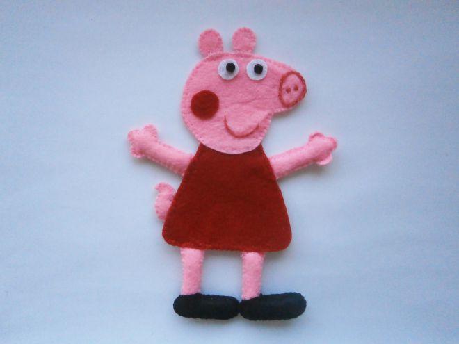 Свинка Пеппа из фетра13