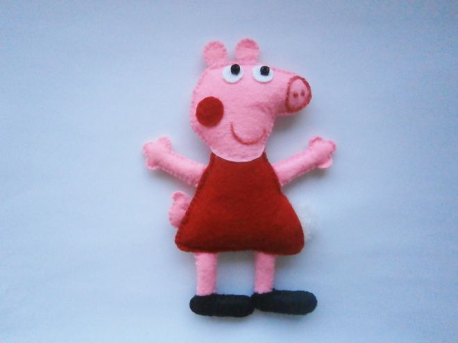 Свинка Пеппа из фетра14