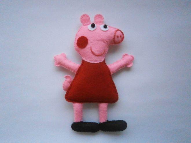 Свинка Пеппа из фетра15