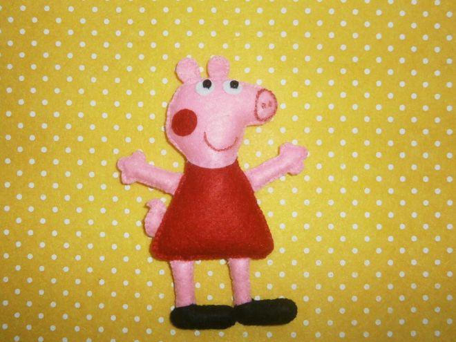 Свинка Пеппа из фетра16