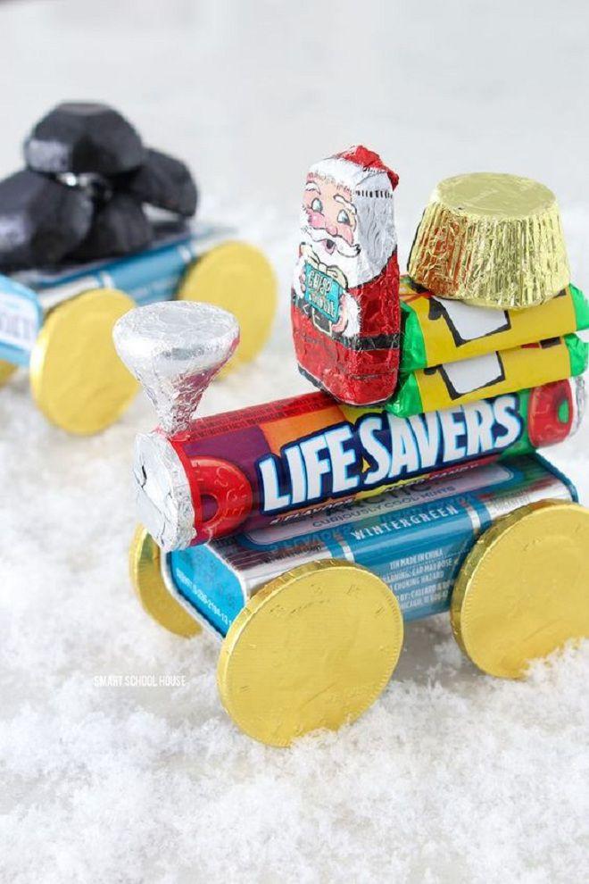Новогодние поделки из конфет