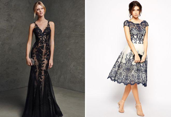платья с кружевом 2017