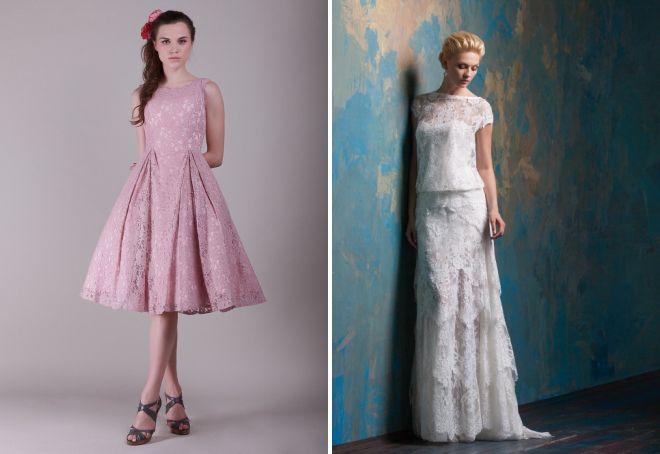 платье с кружевом тренд