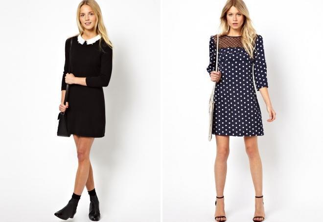 короткие офисные платья