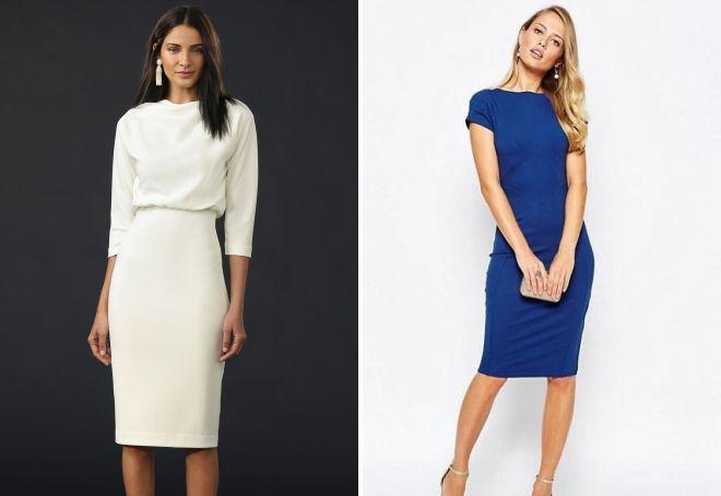 строгие платья для офиса