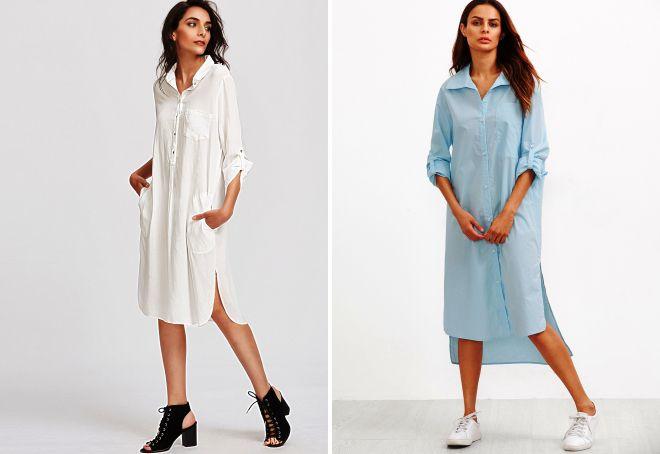 модно ли платье рубашка в 2017 году